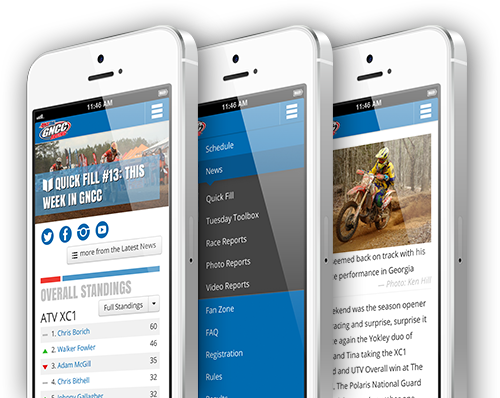 GNCC Racing ATV and Off-road Website Design