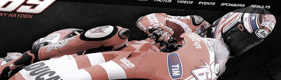 Nicky Hayden - MotoGP Website Design
