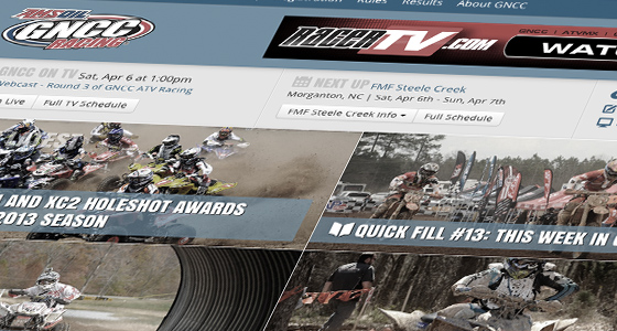 GNCC Racing - Website Design & Development