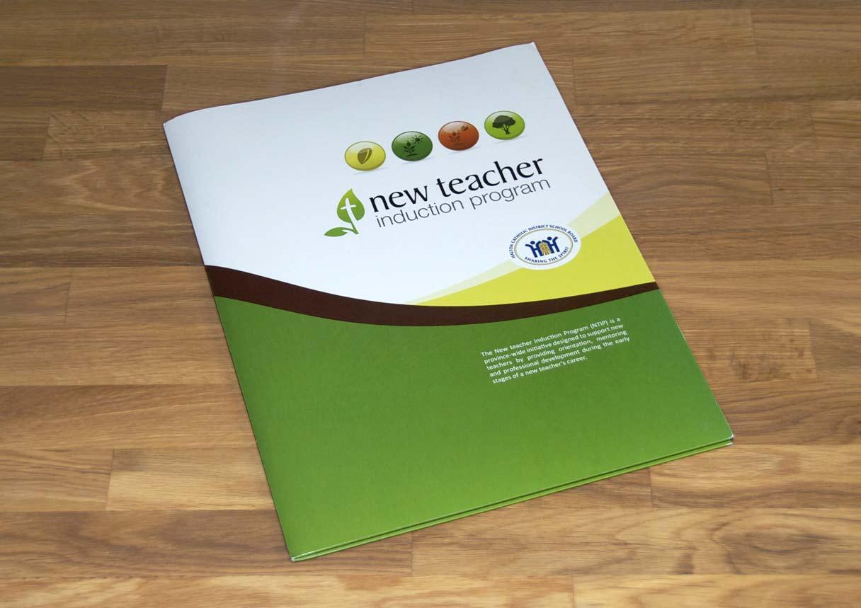 new teacher induction program - branding  u0026 print design
