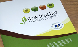 New Teacher Induction Program - Folder Graphic Design