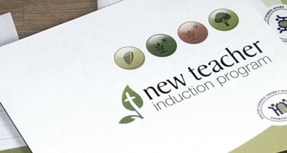 New Teacher Induction Program - Branding & Print Design