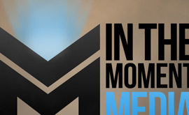 The New In The Moment Media Logo Design
