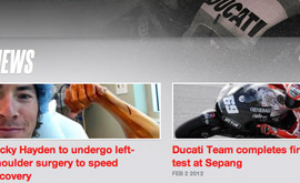 Nicky Hayden - Easier to Read & Navigate News Section