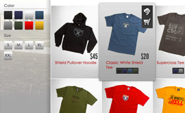 Racer X Brand eCommerce - Products Display