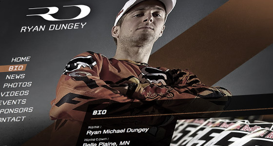 Ryan Dungey - Motocross Rider Website Design