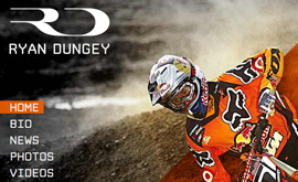 Ryan Dungey - Homepage Design