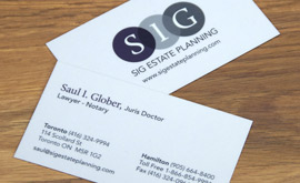 SIG Estate Planning Business Cards
